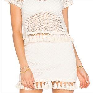 Anine Bing Crochet Tassel Skirt